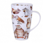 Dunoon Twitters Owls Henley Shaped Large Mug Boxed