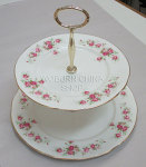 Duchess China June Bouquet - 2 Tier Cake Stand