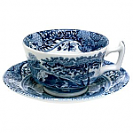 Spode Blue Italian - Teacup Tea Cup and Saucer