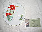 Duchess China Poppies - Breakfast Saucer 15cm