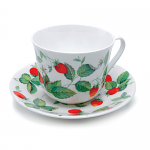 Roy Kirkham Breakfast Cup & Saucer - Alpine Strawberry