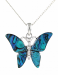 Paua Shell Pendant Large - Butterfly