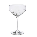 Dartington Glitz Champagne Saucer Glasses Pair