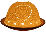 Light Glow Hearts Tealight Candle Holder