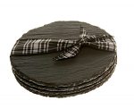Just Slate Company - Coaster Round 11cm - Set of 4