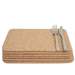 T&G Cork - Set of 6 Rectangular Tablemats in FSC certified cork