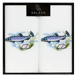 Men's White Handkerchiefs - Fish - Twin Pack