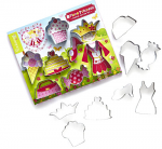 Cooksmart Kids Princess Cupcake 8 Piece Cutter Set