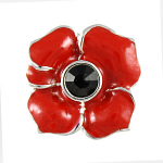 Poppy Brooch - Lapel Pin 4 Petals