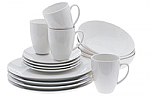 Maxwell & Williams - White Basics Coupe Dinner Set 16 Piece