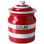 Cornishware - Cornish Red - Sugar Storage Jar 84cl