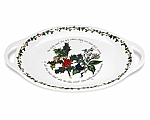 Portmeirion Holly & Ivy Oval Handled Platter 18 inch