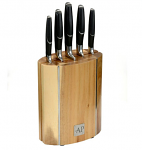 Arthur Price 6 Piece Oval Wooden Knife Block
