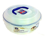 Lock & Lock Cake Box Round 5.5ltr with Tray & Carry Handle