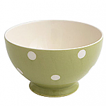 Fairmont & Main Kitchen Spot Green Footed Cereal Bowl