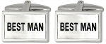 Best Man Wedding Rectangle Cufflinks