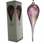 Amelia Glass Birthstone Teardrop - February Pink and Purple