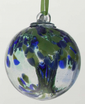 Amelia Glass Sentiment Friendship Ball 10cm - Inspiration Green & Blue