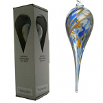 Amelia Glass Birthstone Teardrop - September Blue and Gold