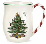 Spode Christmas Tree - Mug with Peppermint Handles - Set of 4