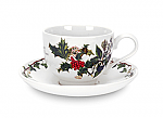 Portmeirion Holly & Ivy Tea Cup & Saucer