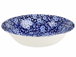 Burleigh Blue Calico Pudding / Soup Bowl 20.5cm 8 inch