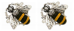 Bee Cufflinks Rhodium Plated