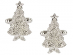 Christmas Tree Crystals Cufflinks