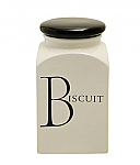 Fairmont & Main - Script Biscuit Store Jar with Black Lid