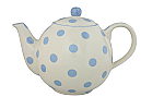 London Pottery Globe Teapot 4 Cup Powder Blue Spots