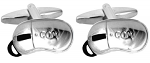 Computer Mouse Cufflinks Rhodium Plated