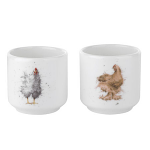 Royal Worcester Wrendale Designs - Egg Cups Set of 2