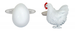Chicken & Egg Cufflinks Rhodium Plated