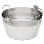 Stainless Steel Maslin Pan with Handle 9 Litres