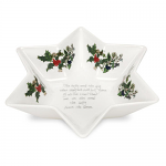 Portmeirion Holly & Ivy Deep Star Dish 20cm