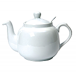 London Pottery Farmhouse Filter Teapot 6 Cup White
