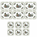 Pimpernel Holly & Ivy Rectangular Placemats Set 6 (free coasters)