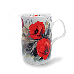 Roy Kirkham Lancaster Mug Poppy Red