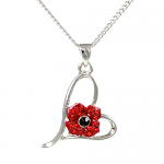 Poppy Pendant - 4 Petal in Heart