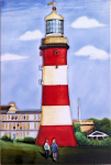 Ceramic Art Tile - Lighthouse 8in x 12in