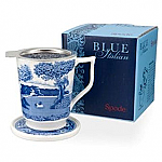 Spode Blue Italian - Tisaniere - Mug with Strainer