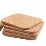 T&G Cork - Set of 6 Square Coasters in FSC certified cork