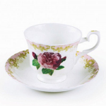Roy Kirkham Vintage Rose Teacup & Saucer