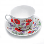 Roy Kirkham Breakfast Cup & Saucer - English Meadow