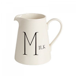 Fairmont & Main - Script Medium Jug - Milk