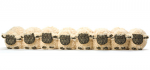 Draught Excluder - Flock of 8 Sheep in a Row
