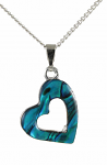 Paua Shell Pendant Small - Heart