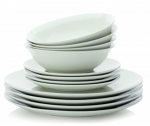 Maxwell & Williams - White Basics 12 Piece Coupe Dinner Set