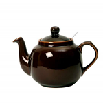 London Pottery Farmhouse Filter Teapot 4 Cup Rockingham Brown