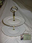 Duchess China Gold Edge - 2 Tier Cake Stand